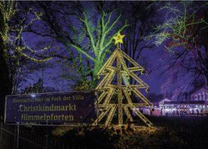 Christkindmarkt - Metall Weihnachtsbaum